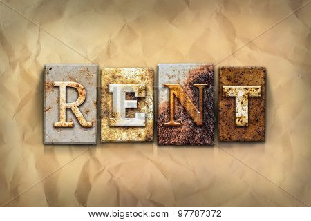 Rent Concept Rusted Metal Type