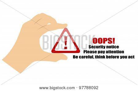 Security notice icon