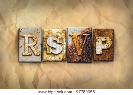 Rsvp Concept Rusted Metal Type