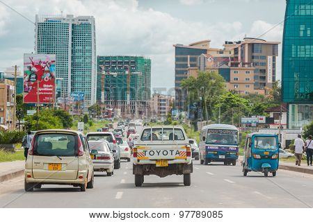 Busy streets of Downtown Dar Es Salaam