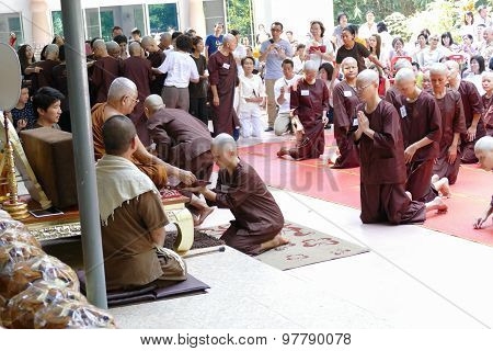 The Buddhist Nun Ordination Ceremony