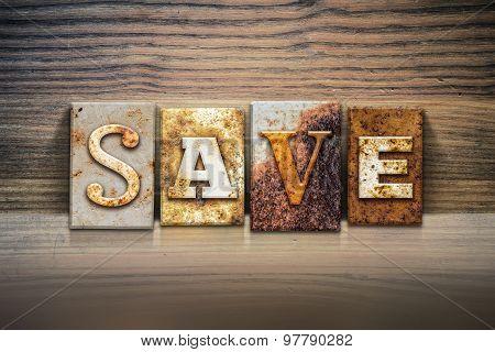 Save Concept Letterpress Theme