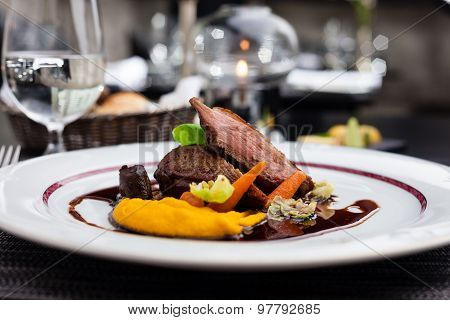 Roasted duck fillet