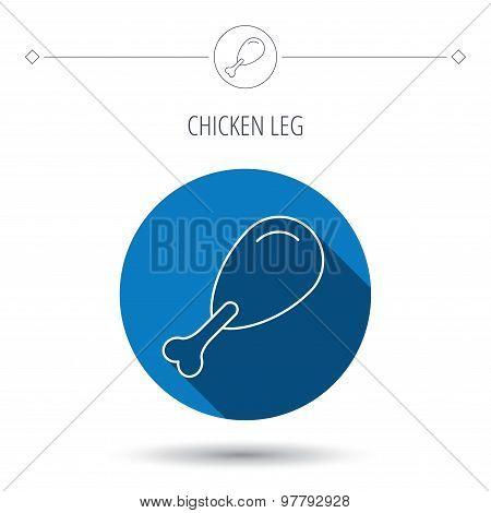 Chicken leg icon. Drumstick sign.