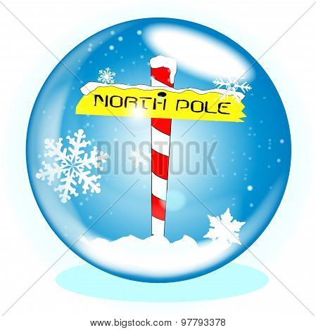 North Pole Winter Globe