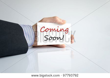 Coming Soon Text Concept