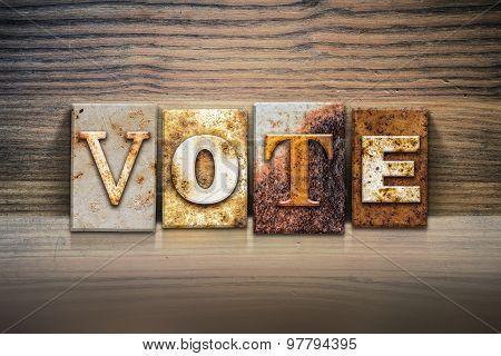 Vote Concept Letterpress Theme