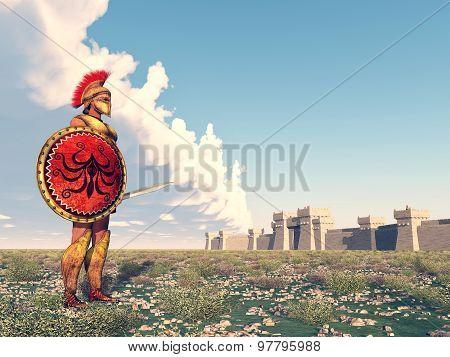 Hoplite at Troy