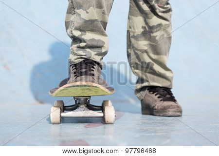Skater Feet And Skateboard