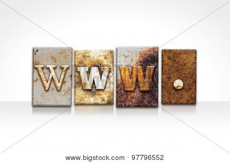 Www Letterpress Concept Isolated On White