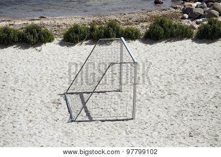 Goal On Beach