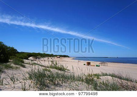 Baltic beach in Palanga, Lithuania.