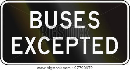 Buses Excepted In Canada
