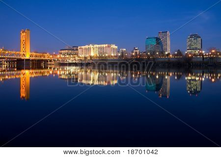 Sacramento reflection in the river