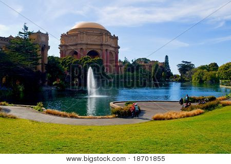 Palace of fine Arts in San Francisco California