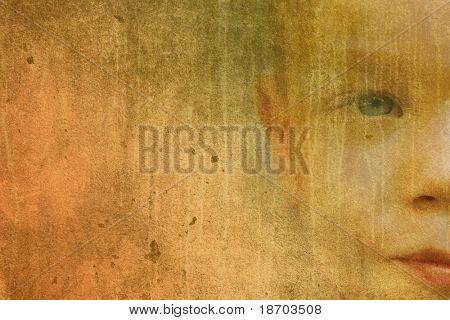 Vintage portrait of a child