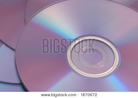 Cds / Dvds Reflecting Light Spectrum