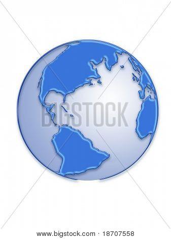 Aqua 3d earth