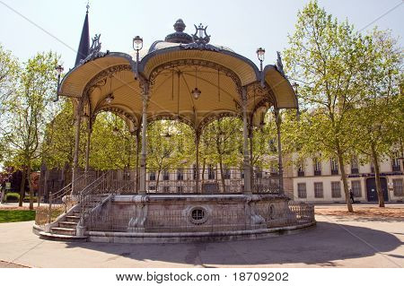 bandstand in dijon city
