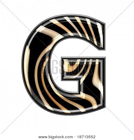 abstract 3d letter with wavy texture