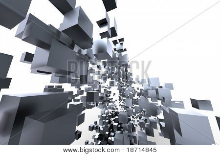 abstract 3d architectural design