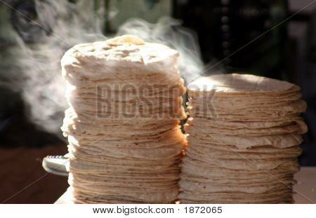 Steaming Tortillas