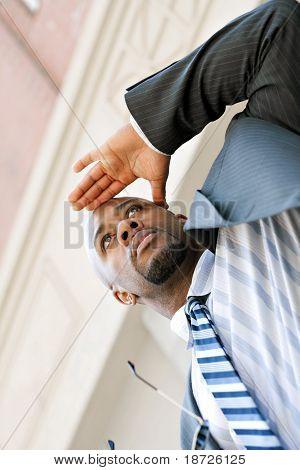 Business Man Looking Ahead