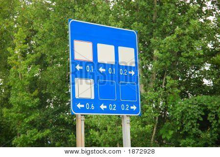 Blank Street Sign