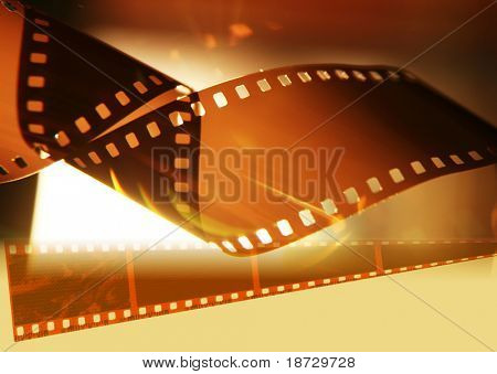 film-strip with light background