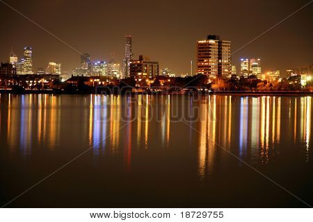 Melbourne  view at  night