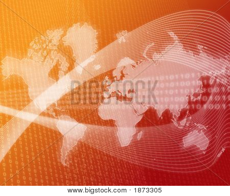 World Data Transfer Orange