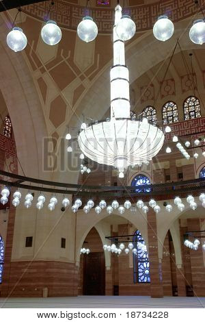 Inside of Grand Mosque in Bahrain