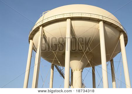 city water reservoir close-up