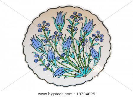 Turkish tile plate - isolated