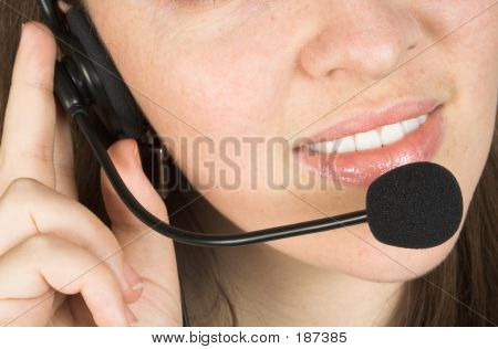Customer Services Close Up