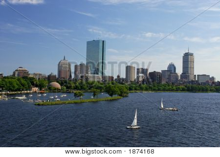 Sailboating On The Charles