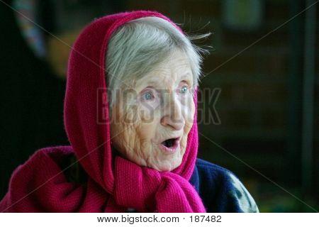 Surprised Elderly Lady