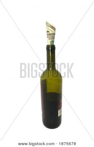 Money In Wine Bottle