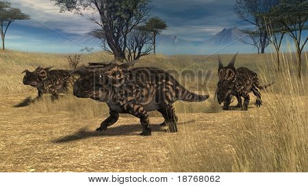 einiosaur in savanna