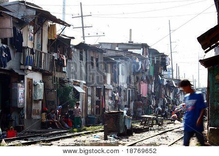 slum area of manila, philippines