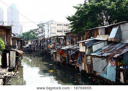 slum area of manila, philippines