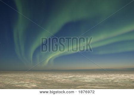 Arctic Tundra Ans Northern Lights