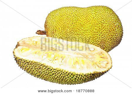 isolated image of a very sweet and ripe jackfruit
