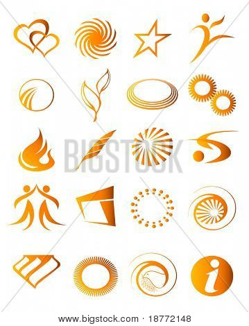vector illustration of abstract icon elements