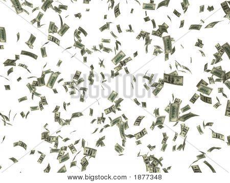 Dinheiro caindo