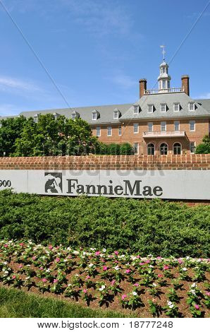 WASHINGTON-MAY 23: Fannie Mae's mortgage portfolio shrank at 19% annual rate in April. Headquartered in Washington DC, seen here on May 23, 2009 Fannie Mae is the largest U.S. home funding company.
