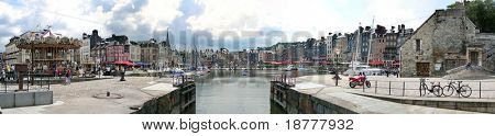 A panorama of Honfleur, Normandy, Northern France
