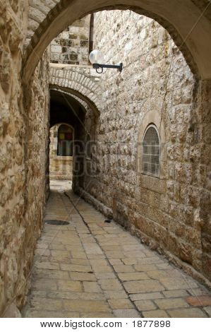 A Street In The Old City Jerusalem