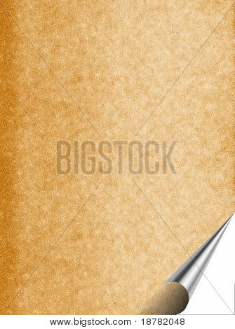 Imitation of a structure of an old brown paper