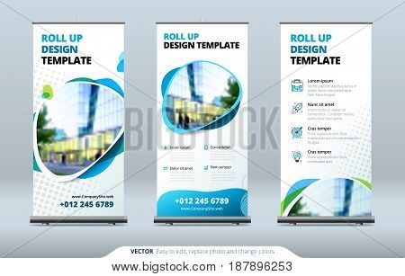 Business Roll Up Banner stand  Presentation concept  Abstract modern roll  up background  Vertical roll up template billboard, banner stand or flag